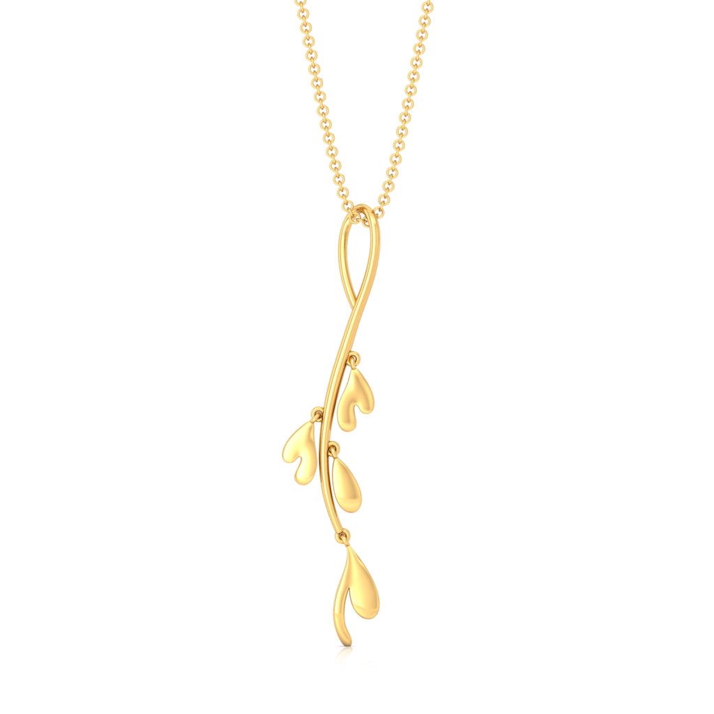 Floral Stylist Gold Pendants