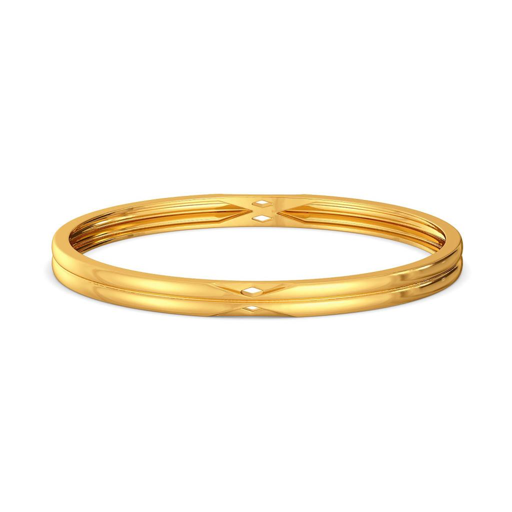 A Tricky Bit Gold Bangles