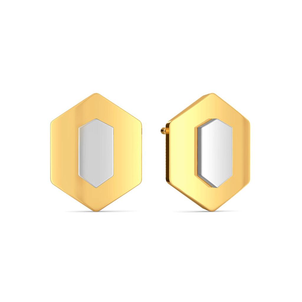 Wild Whites Gold Earrings