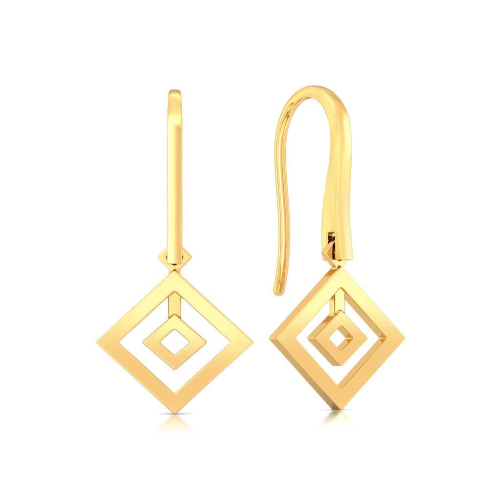 Quantum Control Gold Earrings
