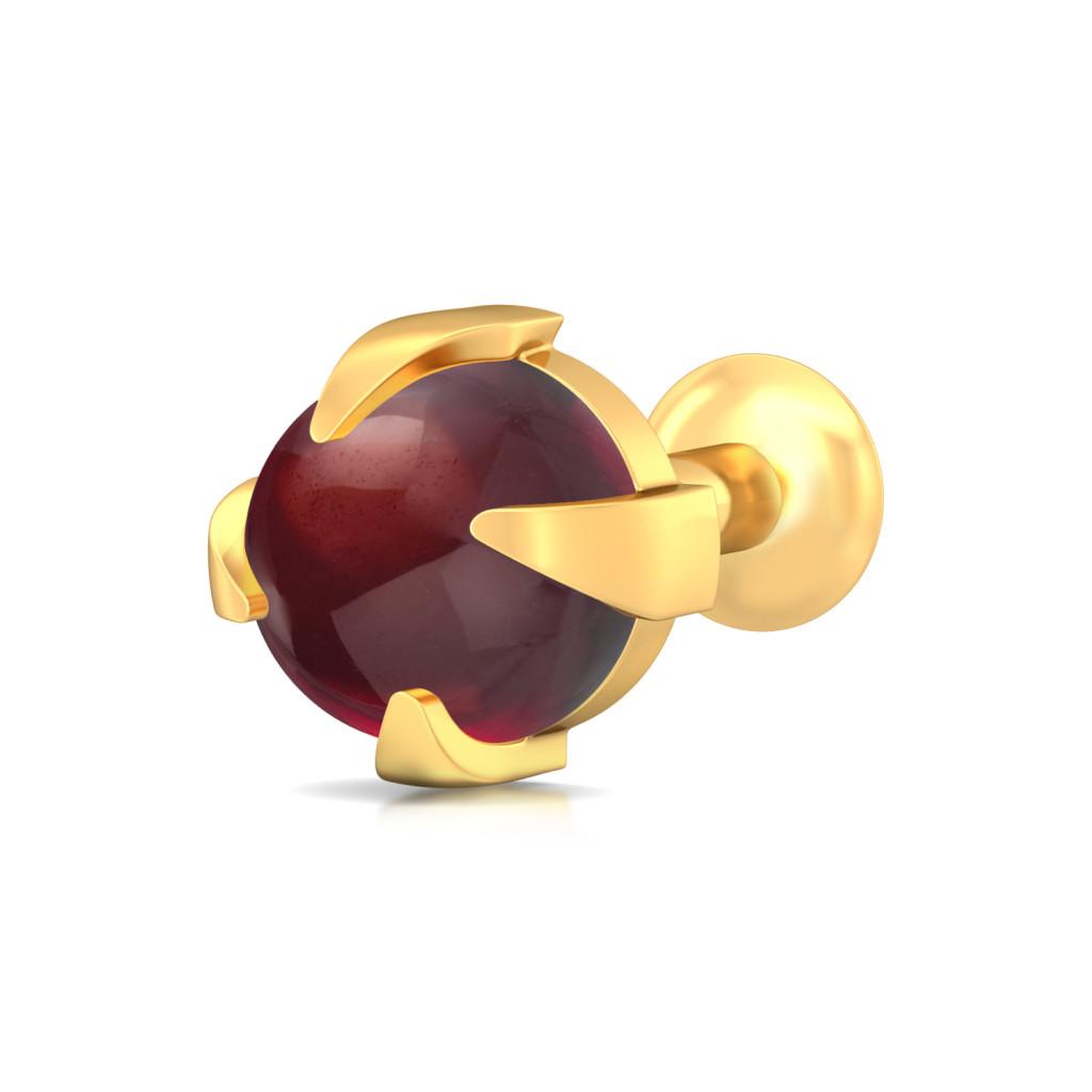 Insta-red Gemstone Nose Pins