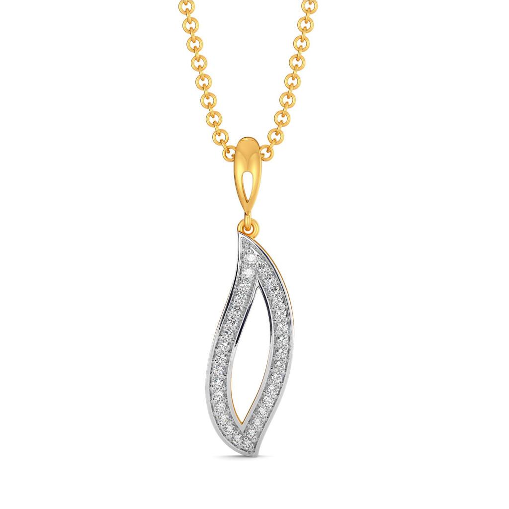 Bohemian Boteh Diamond Pendants