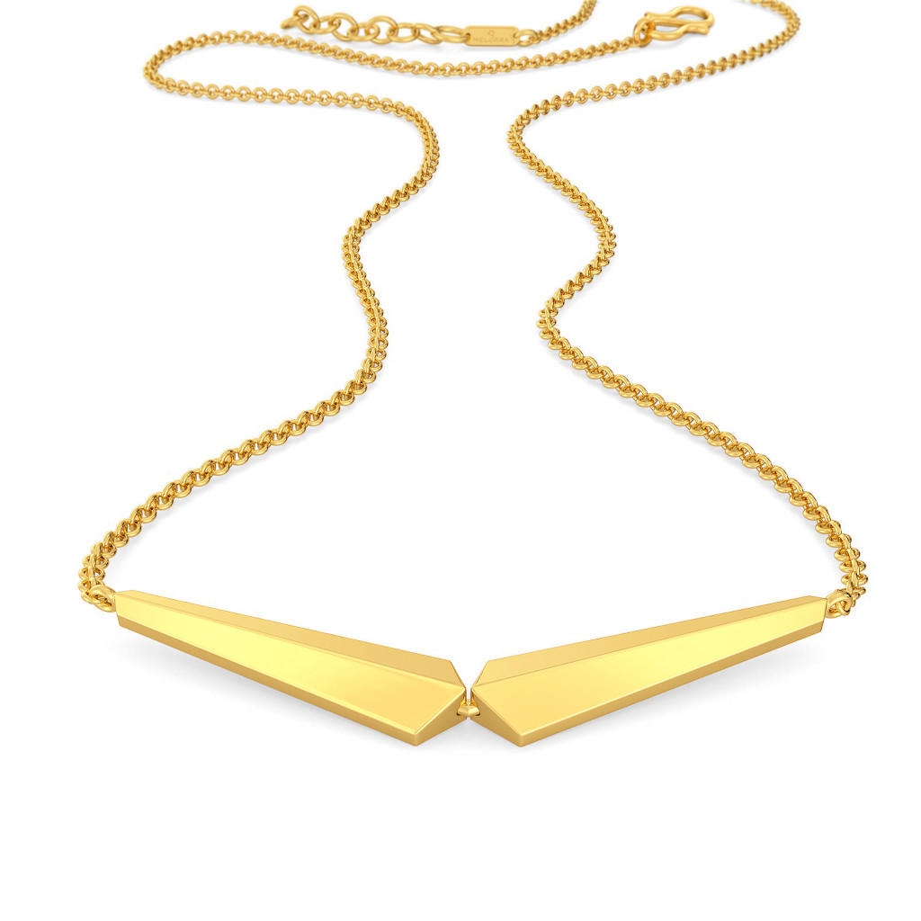 Groovy Folds Gold Necklaces