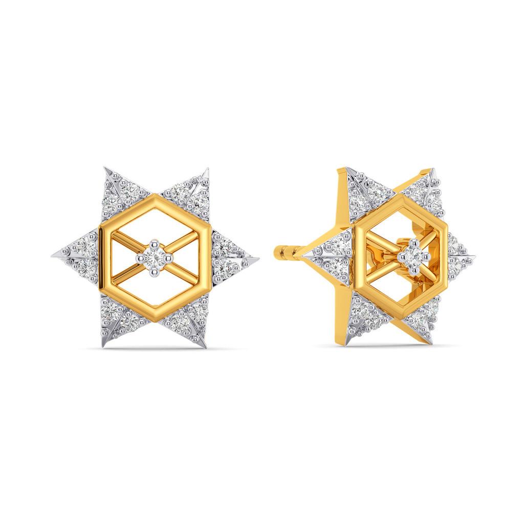 Strong Points Diamond Earrings