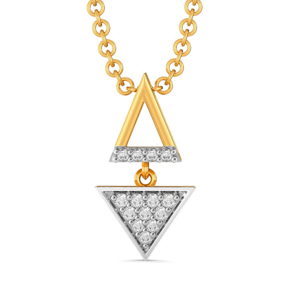 A Sharp Spark Diamond Pendants