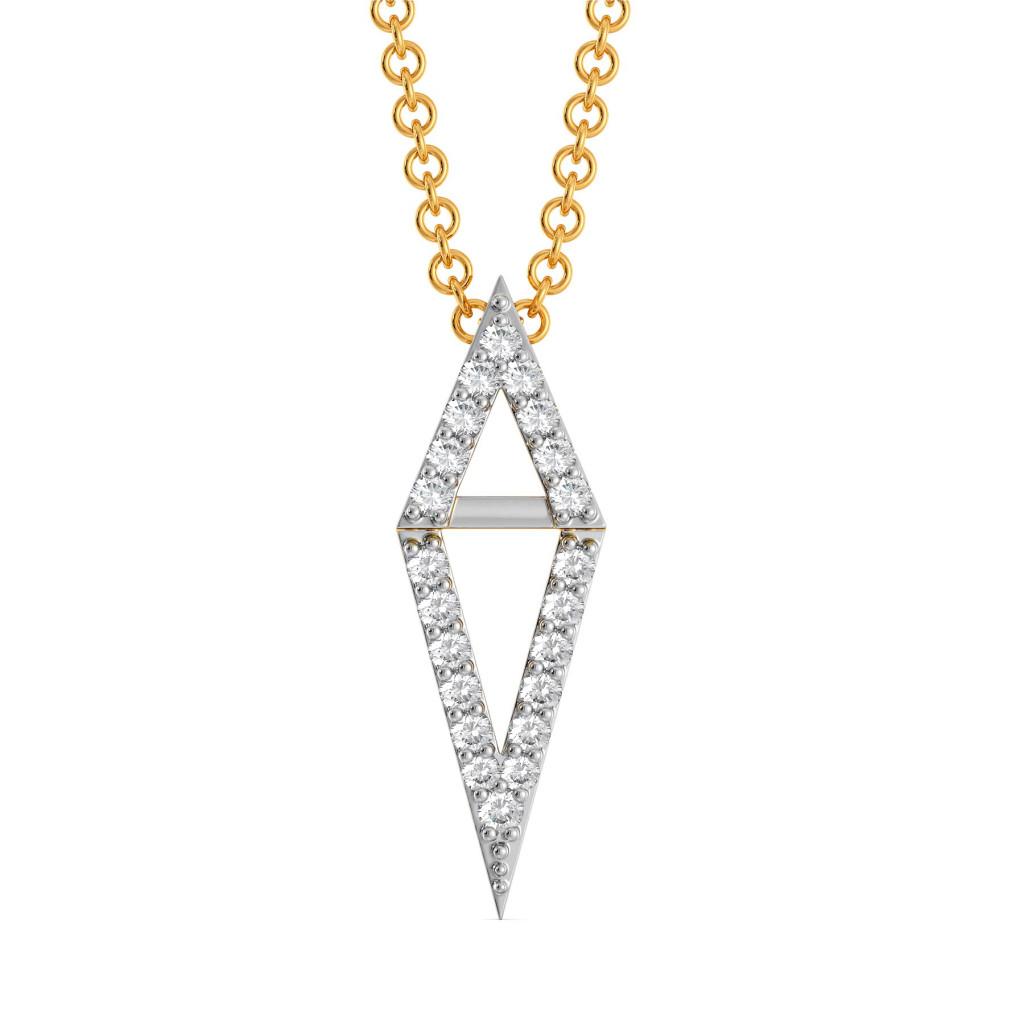 Edgy Angles Diamond Pendants