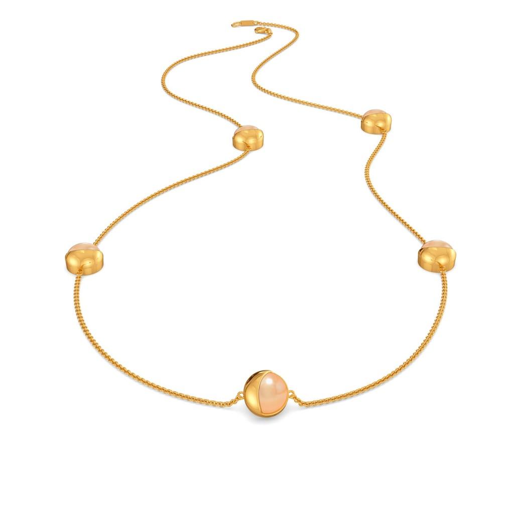 Cream O Blush Gemstone Necklaces