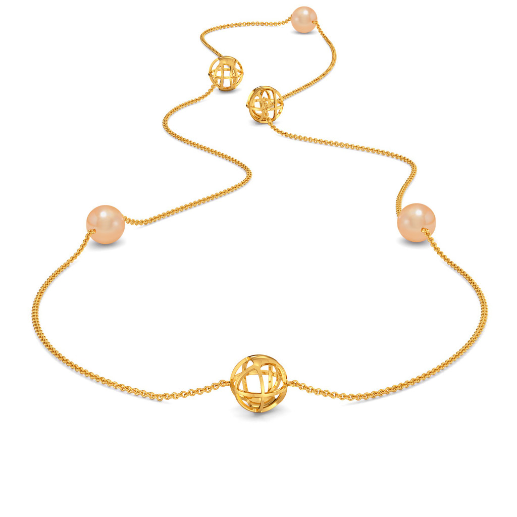 Peach Pin Up Gemstone Necklaces