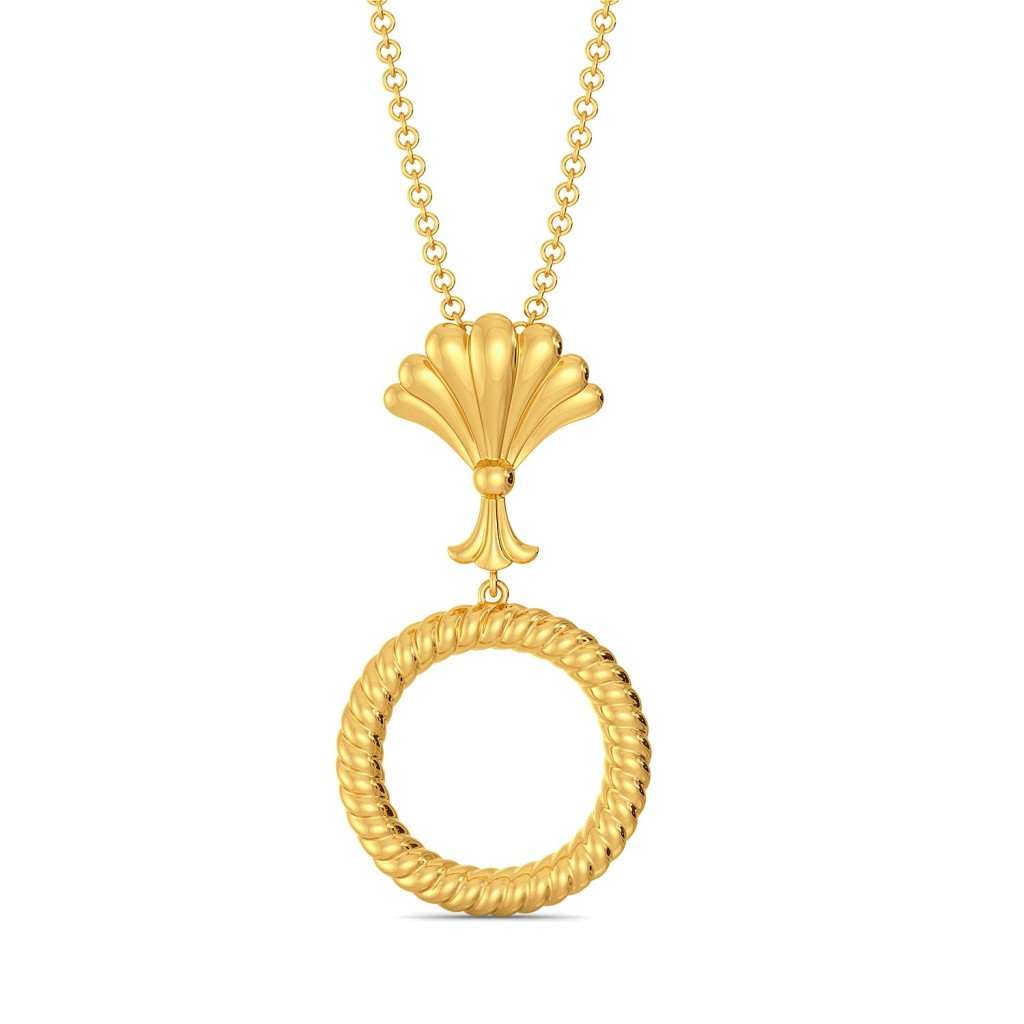 The Calm Palm Gold Pendants