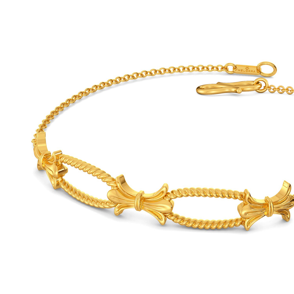 Bow Baroque Gold Bracelets