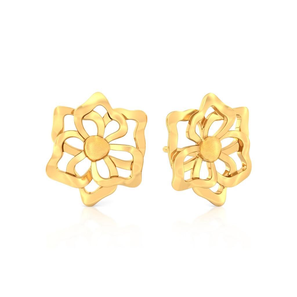 Sunny Side Up Gold Earrings