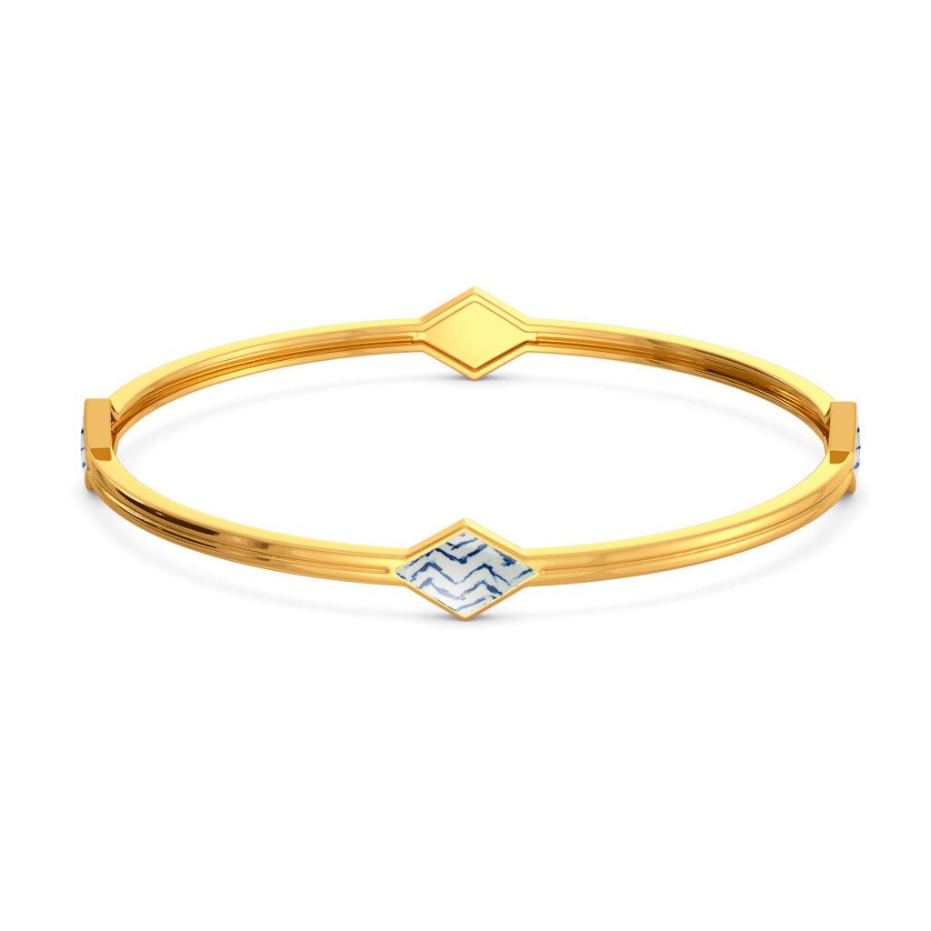 Tie & Dye Folds Gold Bangles