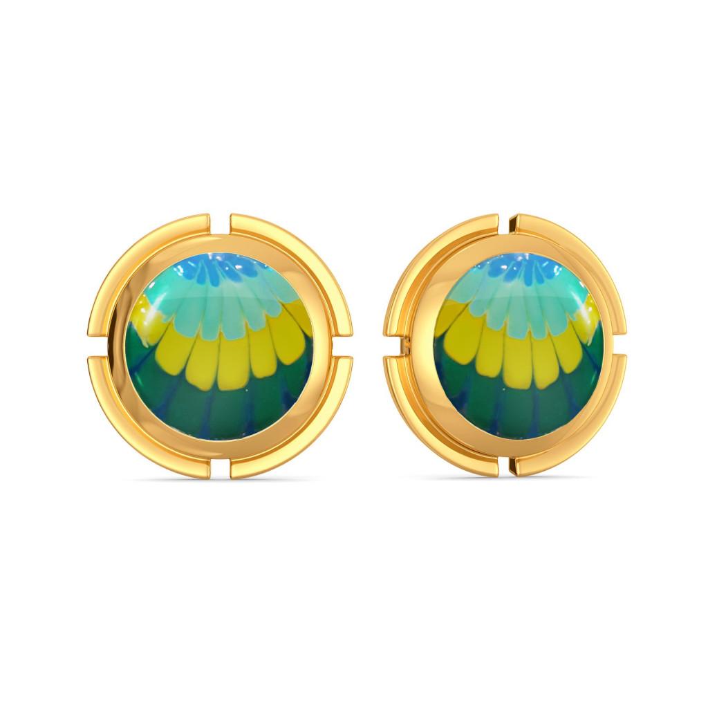 Tie & Dye Twist Gold Earrings