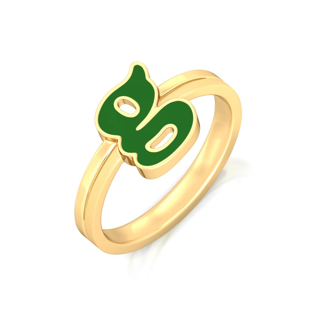 Girl power Gold Rings
