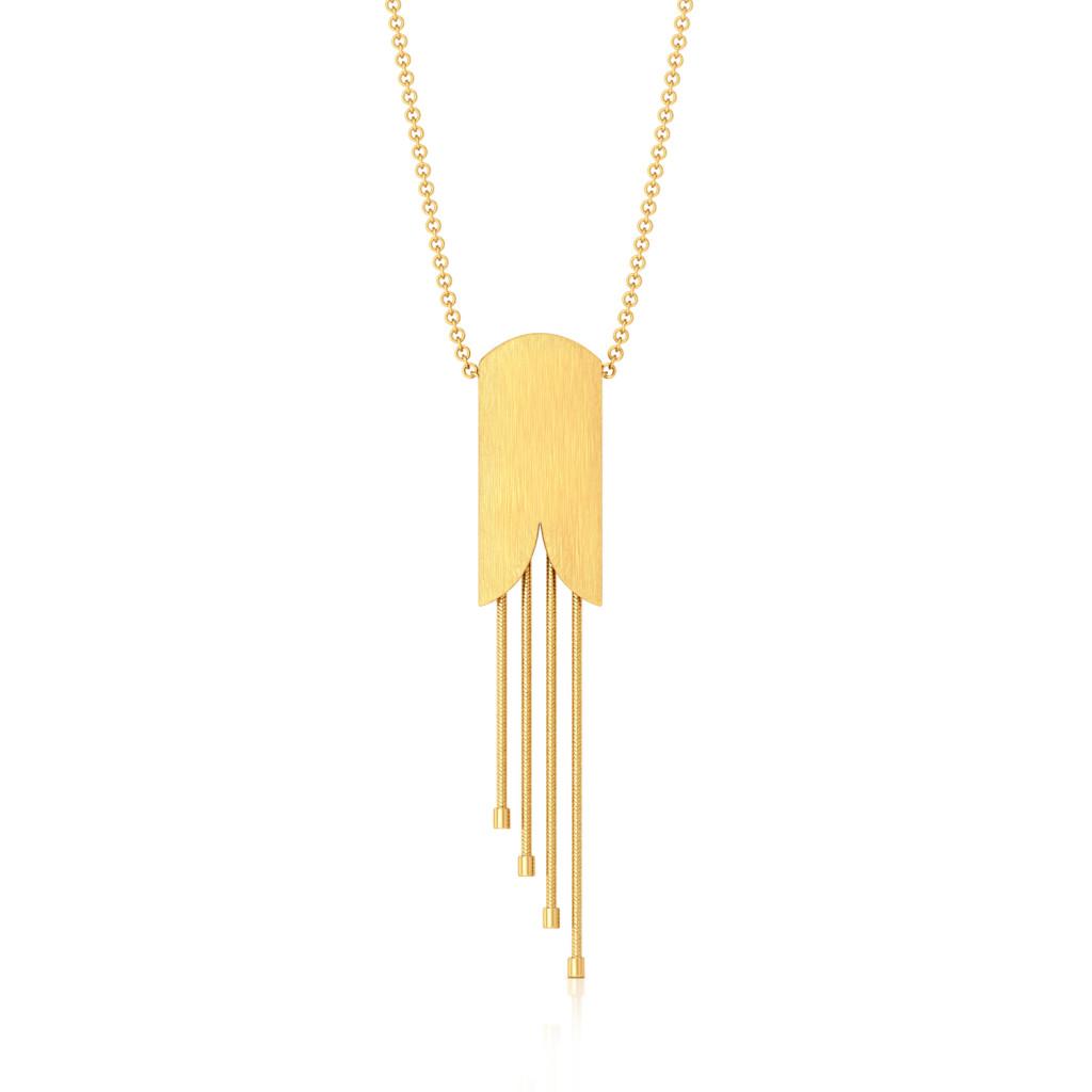 Satin Camber Gold Pendants