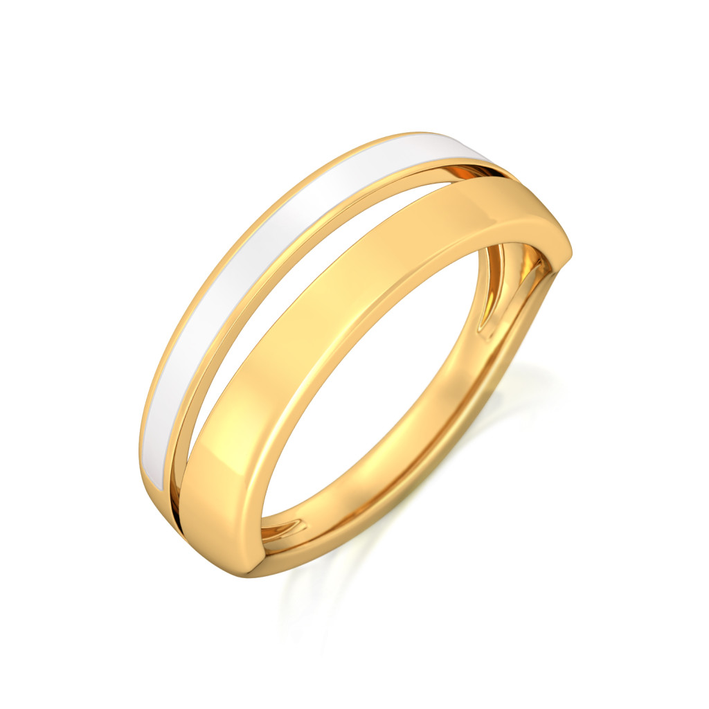 White-Out Gold Rings