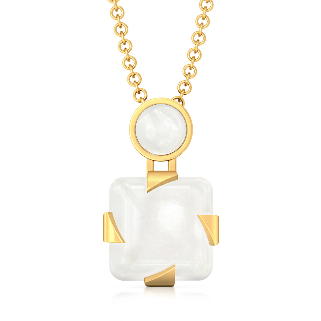 Whiter Than White Gemstone Pendants