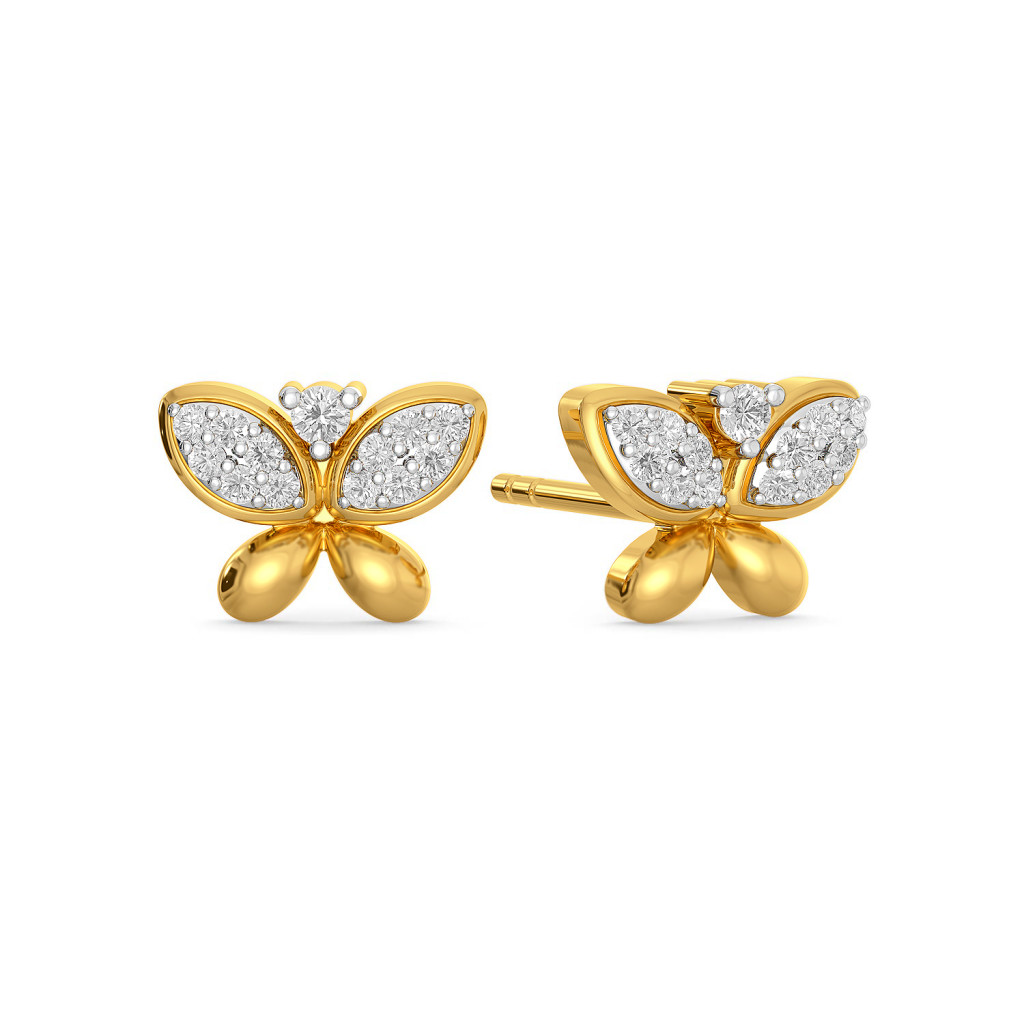 Wings of Glitter Diamond Earrings