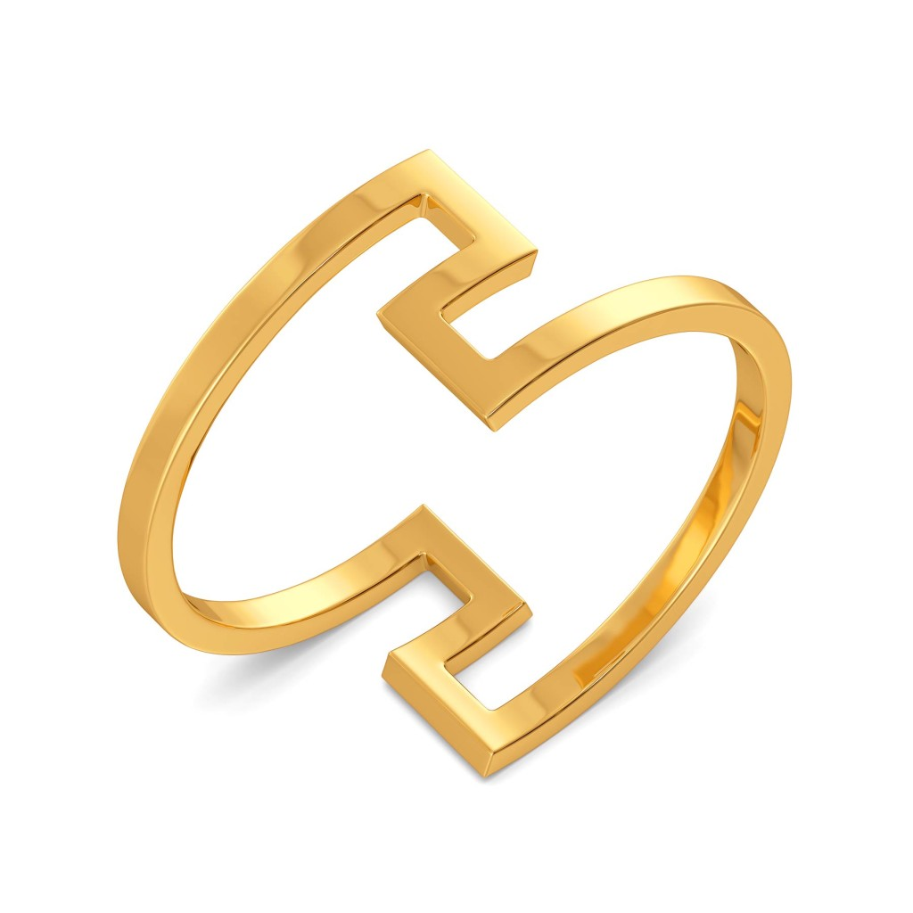 Curly Twirly Gold Rings