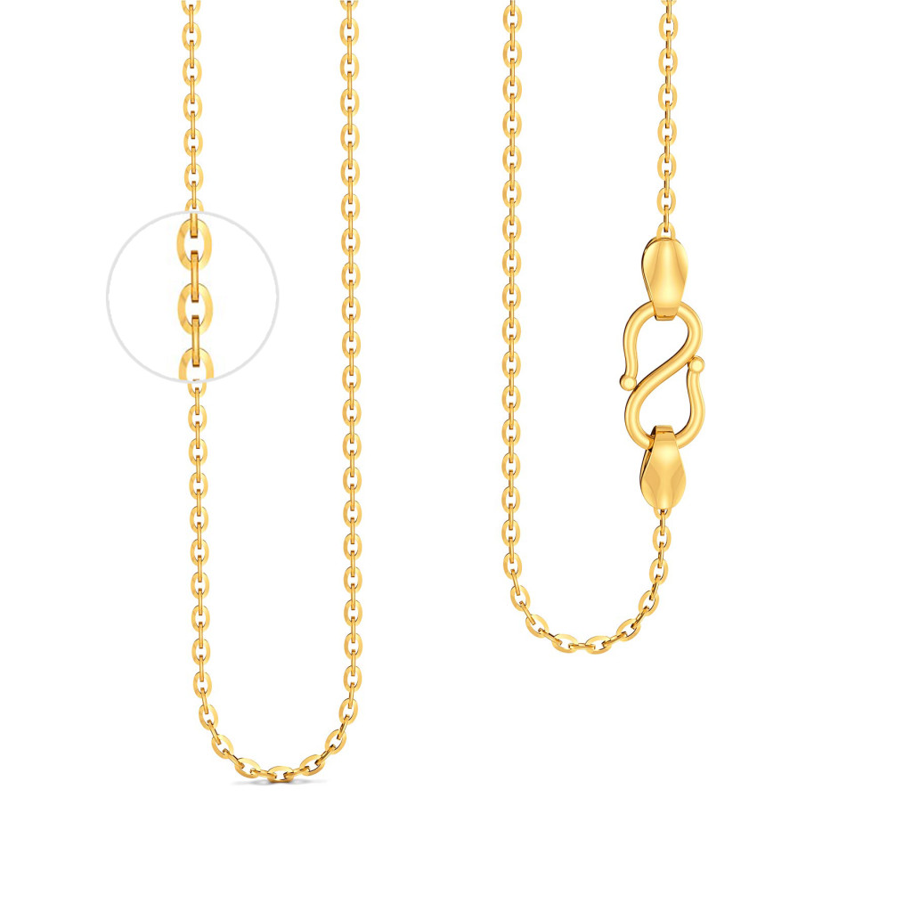 18kt Medium Flat Anchor Chain Gold Chains
