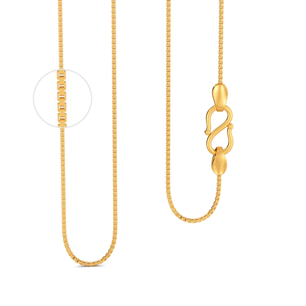 18kt Three Box Chain Gold Chains