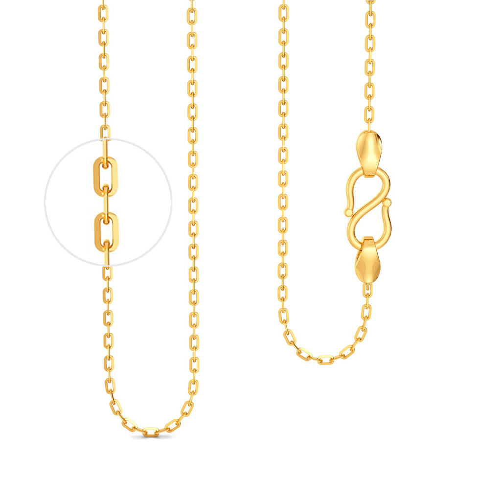 18kt Slender Anchor Chain Gold Chains