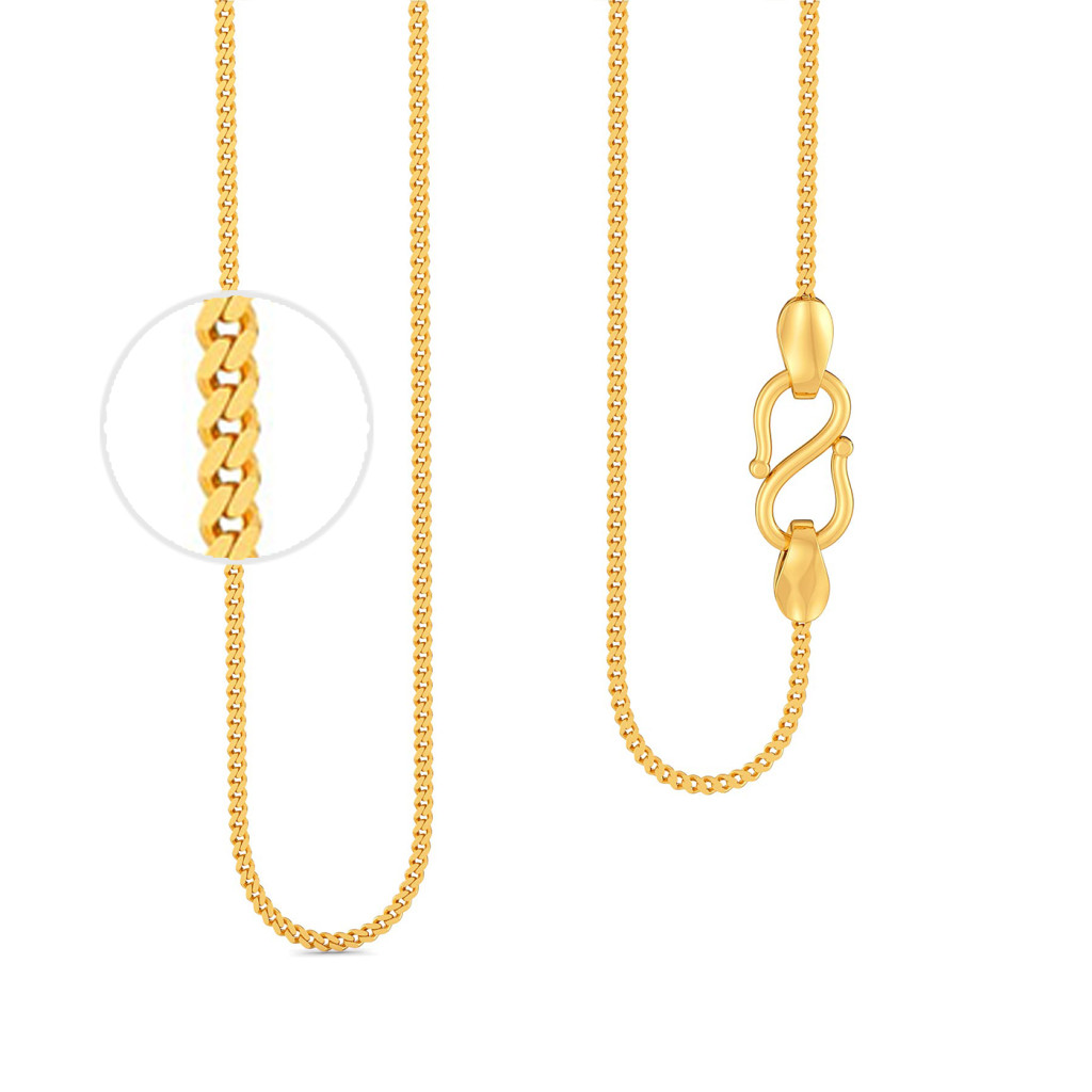 18kt Slender Curb Chain Gold Chains
