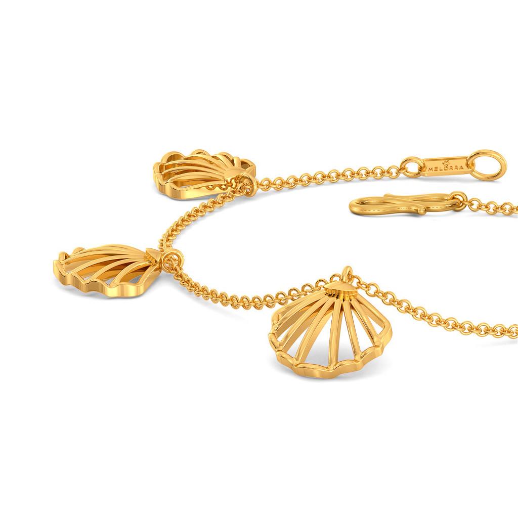 Cease Scallop Gold Bracelets