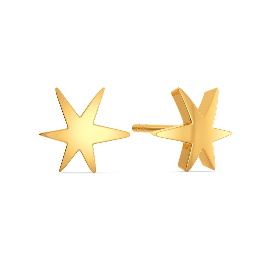 Night Star Gold Earrings