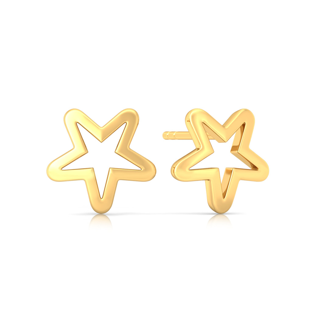 Galactika Gold Earrings