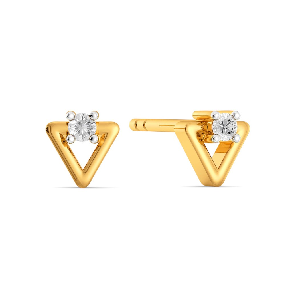 Tricky Trinity Diamond Earrings