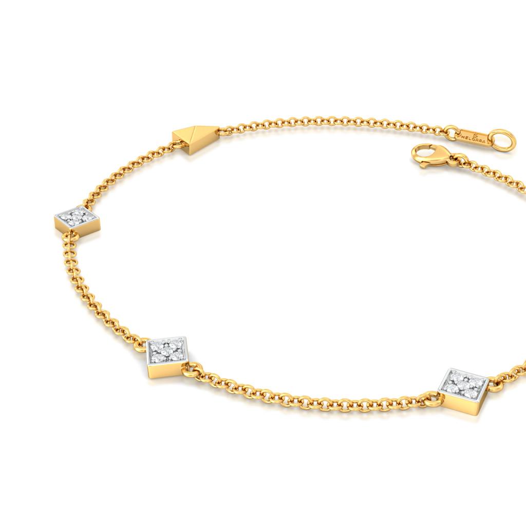 Parallel Spell Diamond Bracelets