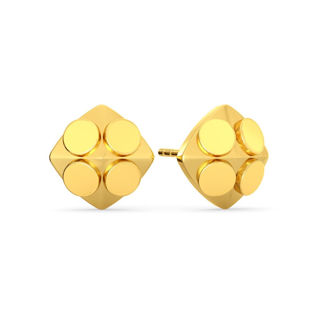 The Trance Dance Gold Earrings