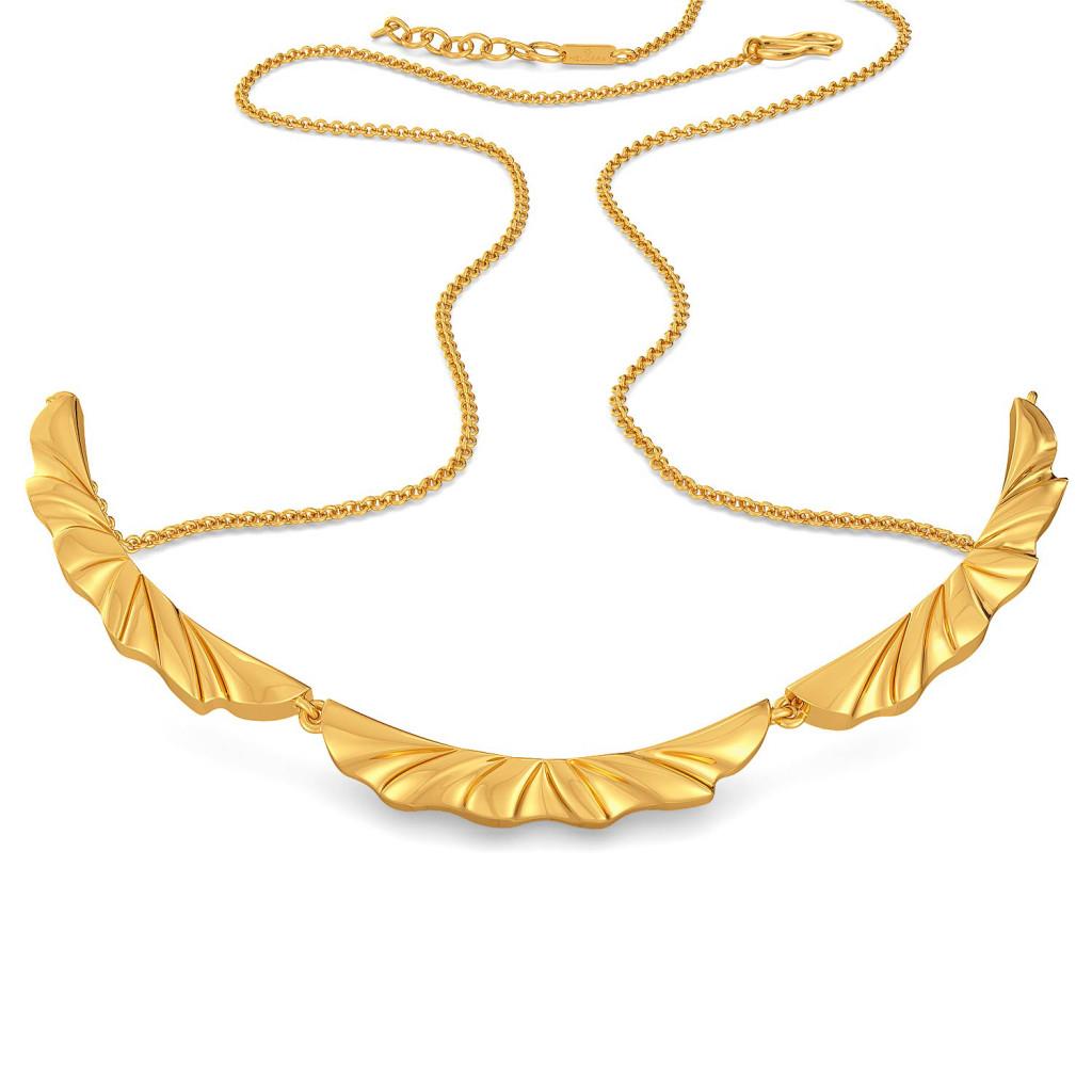 Ruffle Shuffle Gold Necklaces