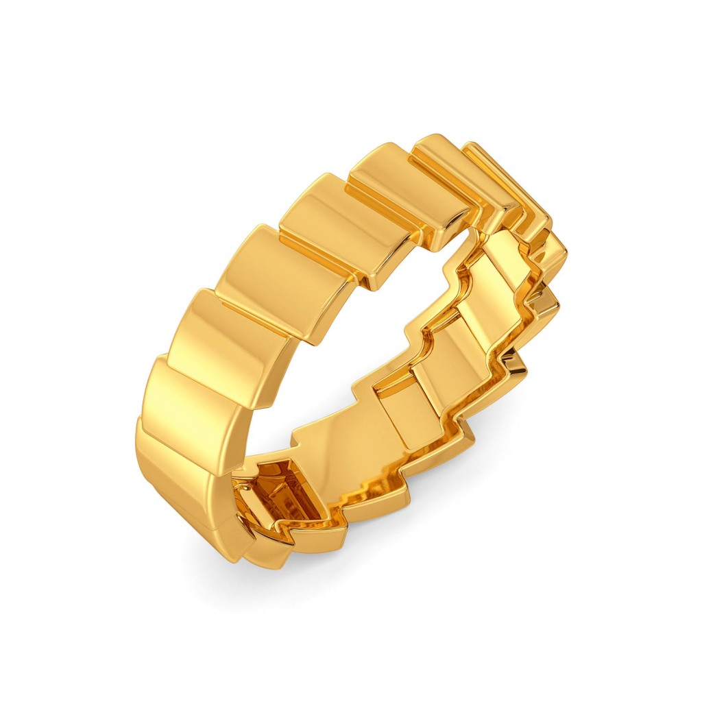 Domino Effect Gold Rings