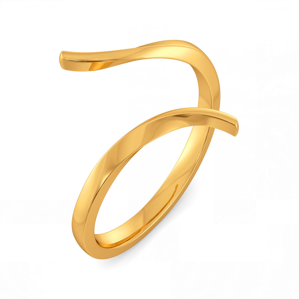 Extra Edgy Gold Rings
