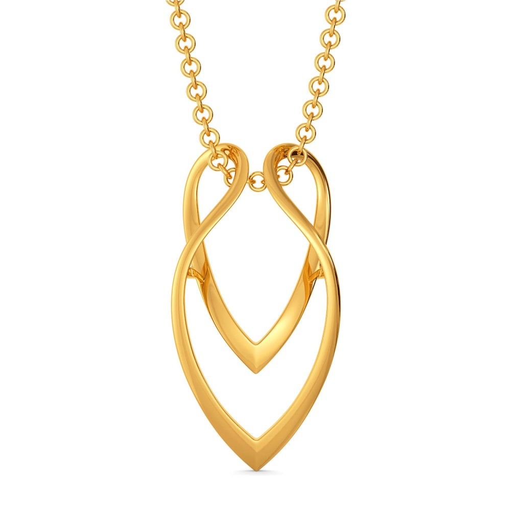 The Edgy Effect Gold Pendants