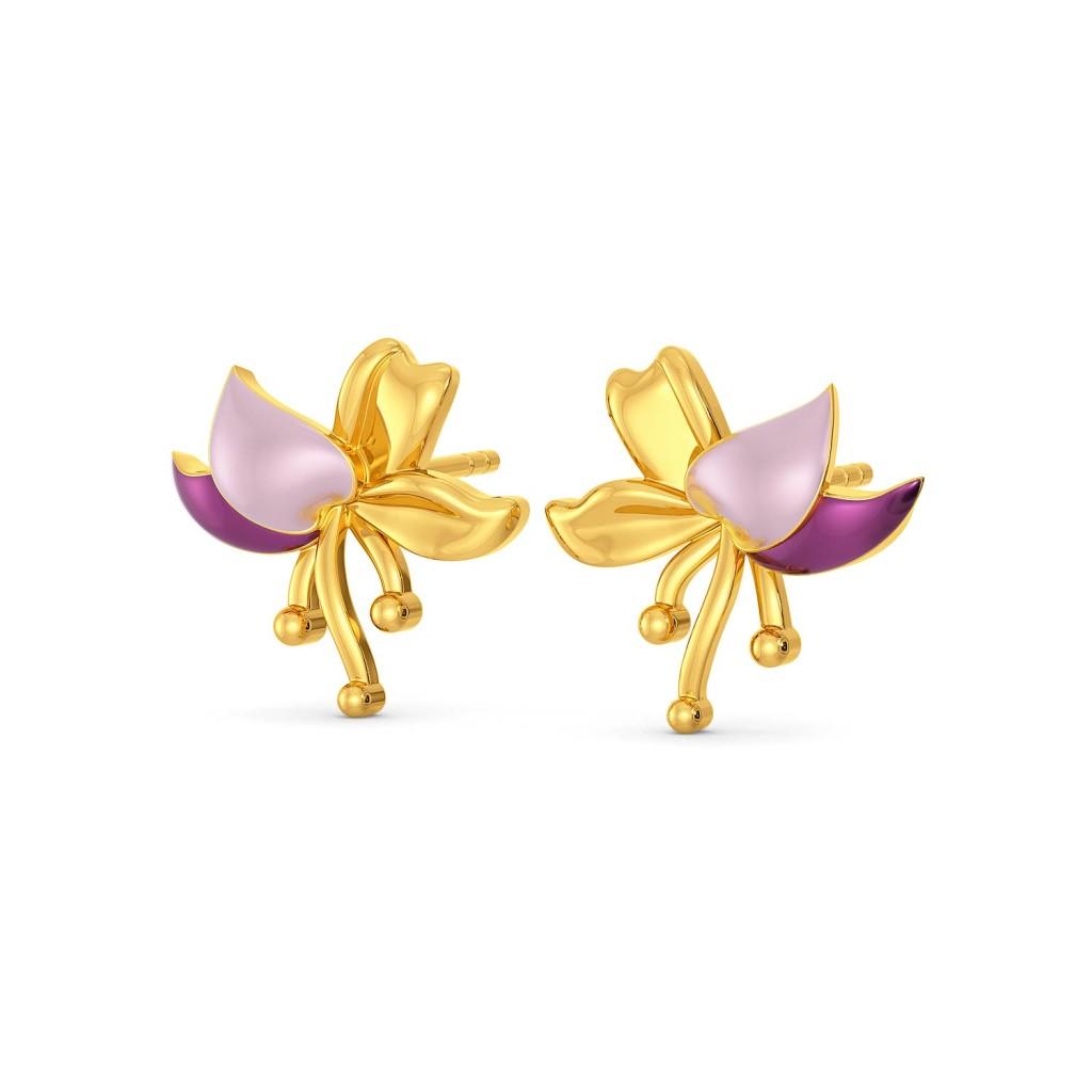 Lei Floret Gold Earrings