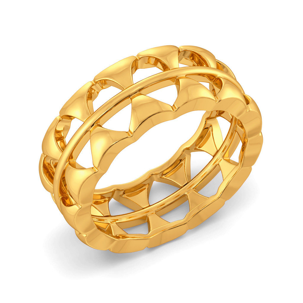 Mesh On My Mind Gold Rings