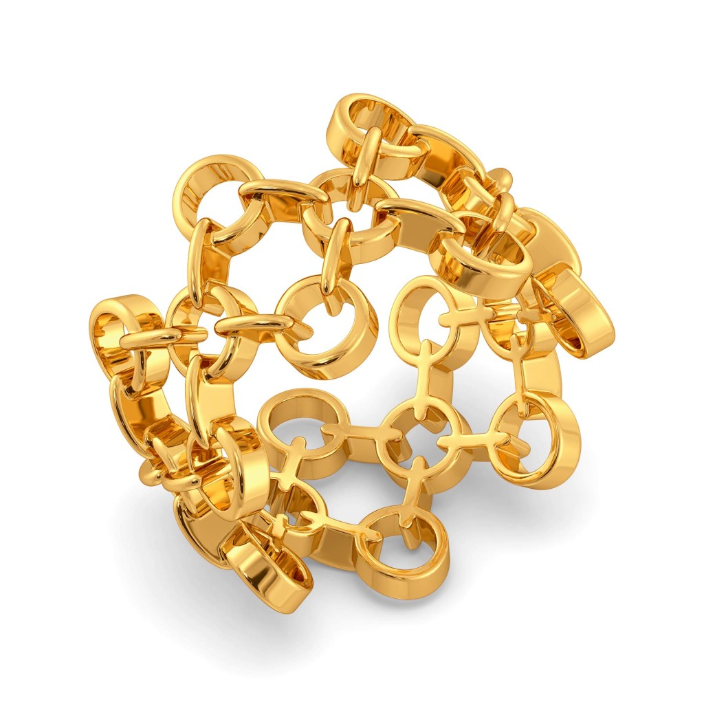 Port And Net Gold Rings