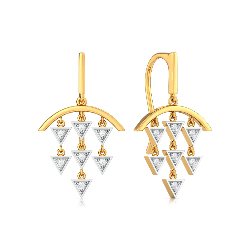 Arrowhead Beams Diamond Earrings