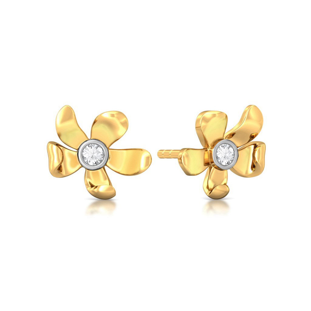 Blooming Floret Diamond Earrings