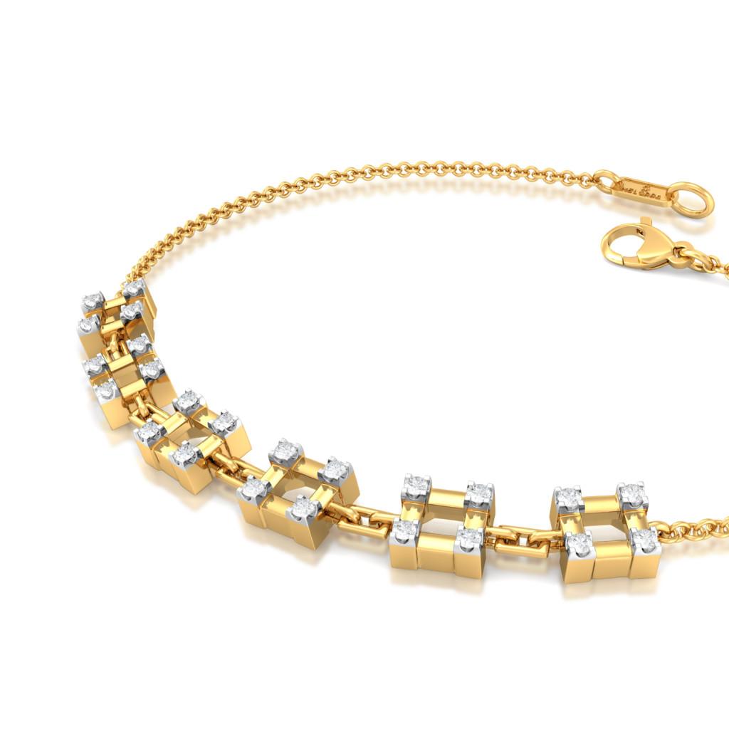 Checkered Bling Diamond Bracelets