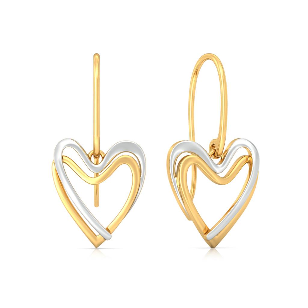Double Dealing Gold Earrings