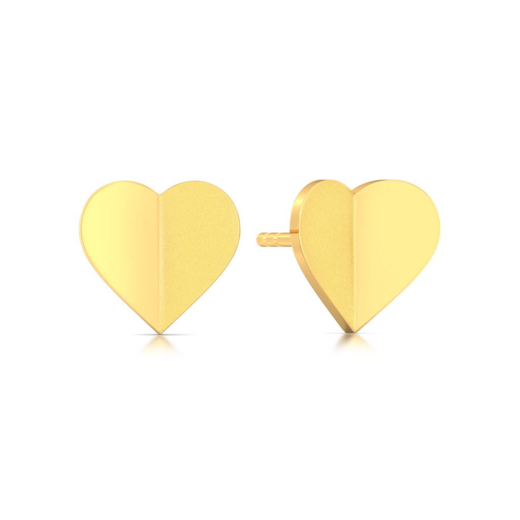 Cold Folds Gold Earrings