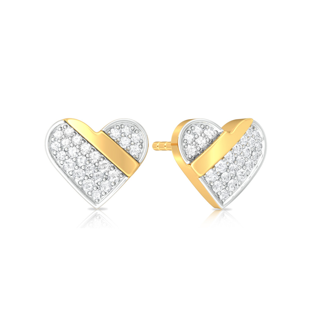 Cross my Heart Diamond Earrings