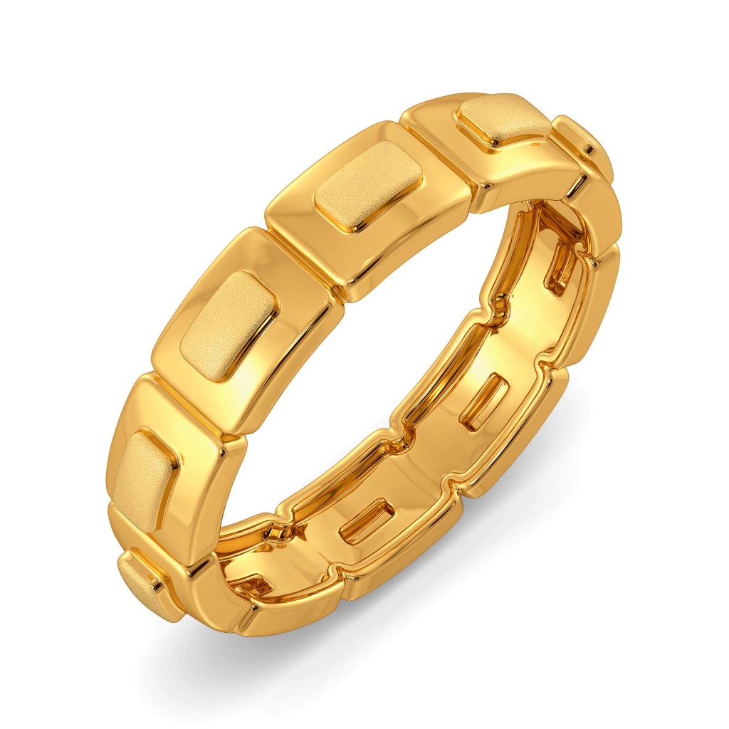 Elegant Edge Gold Rings