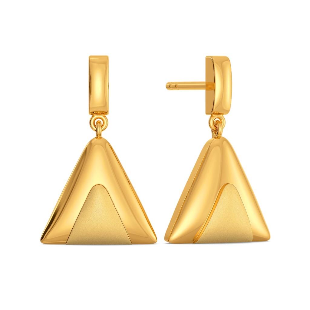 Sombre Story Gold Earrings