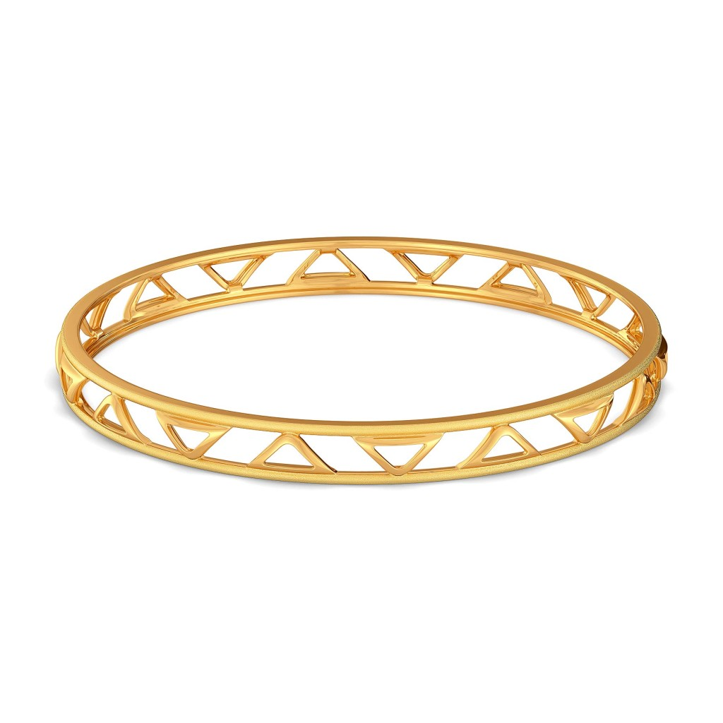 Sombre Story Gold Bangles