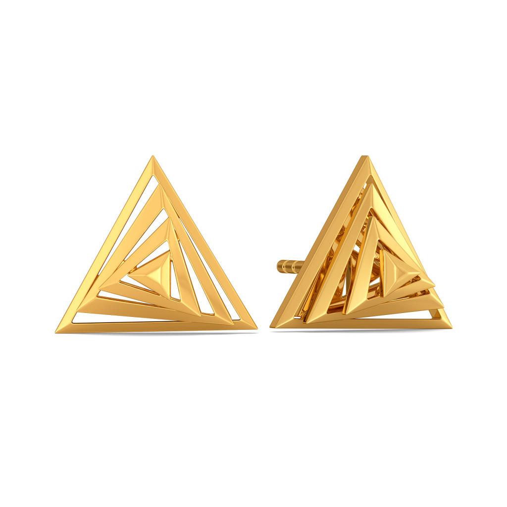 Inside Out Gold Earrings